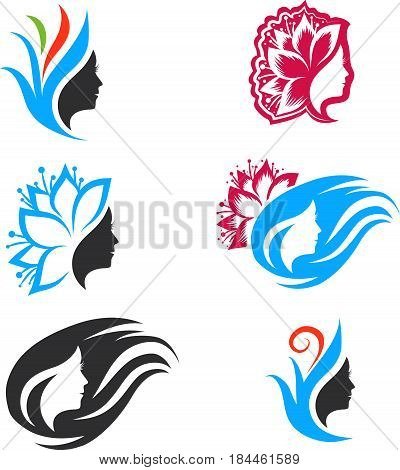 Illustration of Woman Beauty Logo Design Collection