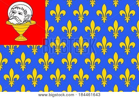 Flag of Saint-Jean-d'Angely is a commune in the Charente-Maritime department in southwestern France. Vector illustration