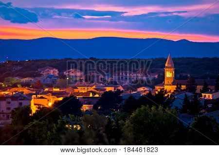 Adriatic Town Of Pakostane Evening View