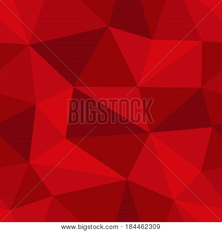 Abstract seamless light and dark red triangles pattern for background. Geometric layout for printing magazine cover, advertise presentation, flyer. Template polygon backdrop for poster page.