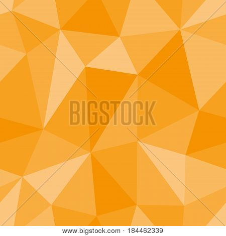 Abstract seamless light and dark orange triangles pattern for background. Geometric layout for printing magazine cover, advertise presentation, flyer. Template polygon backdrop for poster page.