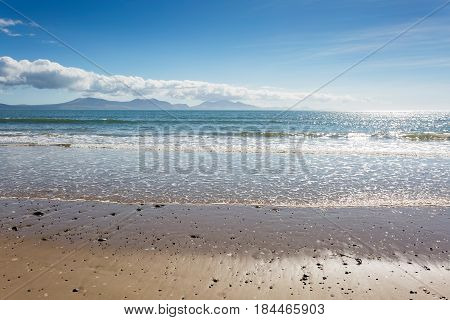 Sandy beach at Newborough in Anglesey North Wales