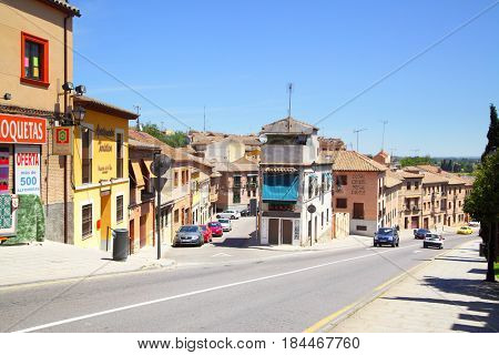 Toledo, Spain - May 10, 2012: Streets and houses in outskirts of Toledo