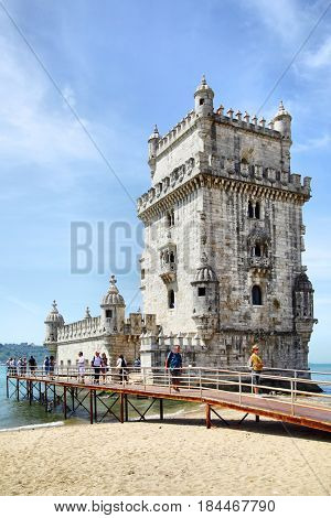 Lisbon, Portugal - May 15, 2012: Belem Tower (Torre de Belem) in Lisbon