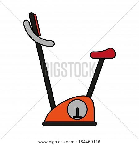 color image gym spinning machine for exercises vector illustration