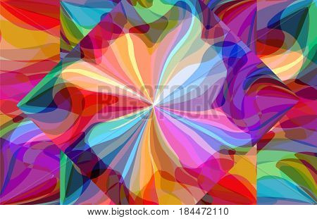 Abstract pattern of colorful soap bubble, tranquility of color and light interplay, artistic decoration, imagination and freedom of creative mind. Vector illustration