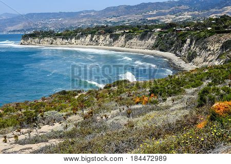 Beautiful View Of The Point Dume State Beach, Malibu
