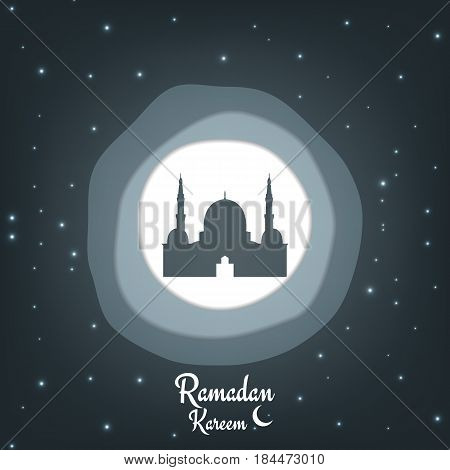 Ramadan Kareem . Paper cut vector background for islamic holiday