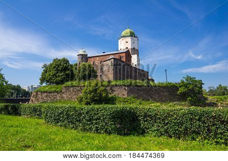 Old Swedish castle in Vyborg Leningrad region Russia