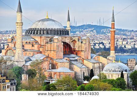 Hagia Sophia Museum (ayasofya Muzesi) In Istanbul, Turkey
