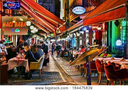 Restaurants In Istanbul By Night
