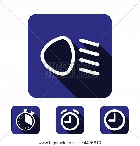 dipped beam icon stock vector illustration flat design