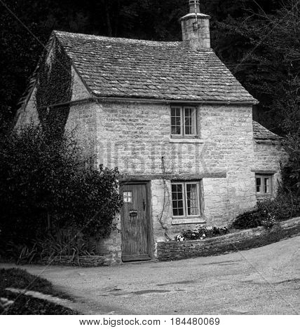 Old English traditional stone cottage