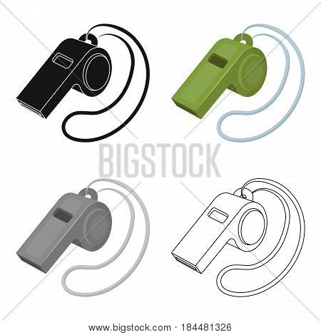 Whistle football fan.Fans single icon in cartoon  vector symbol stock illustration.