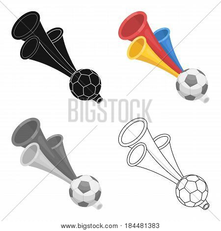 Trumpet football fan.Fans single icon in cartoon  vector symbol stock illustration.