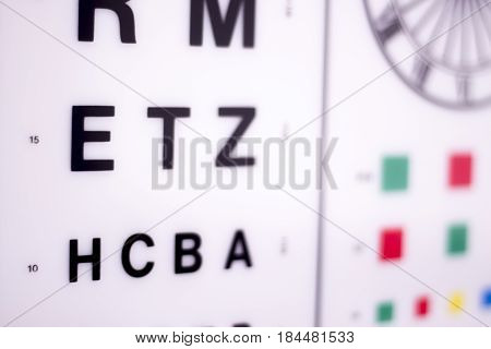 Optician Eye Test Chart