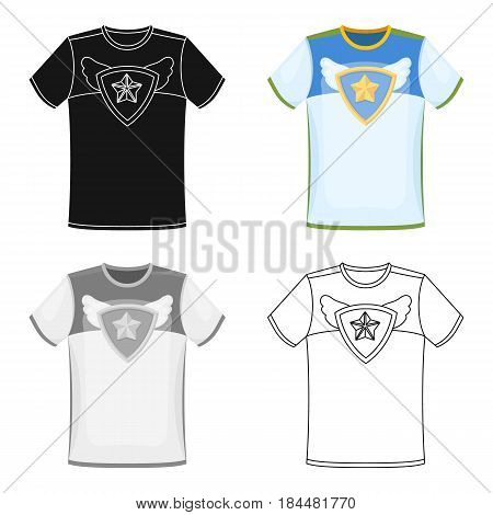 T-shirt fan with print.Fans single icon in cartoon  vector symbol stock illustration.