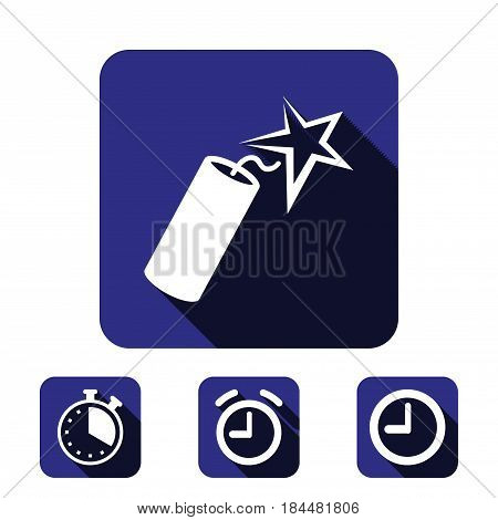 dynamite icon stock vector illustration flat design