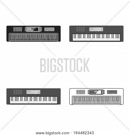 Synthesizer icon in cartoon style isolated on white background. Musical instruments symbol vector illustration