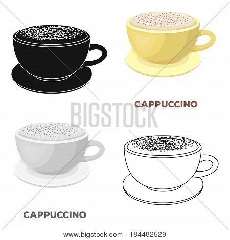 Cup of cappuccino.Different types of coffee single icon in cartoon style vector symbol stock illustration .