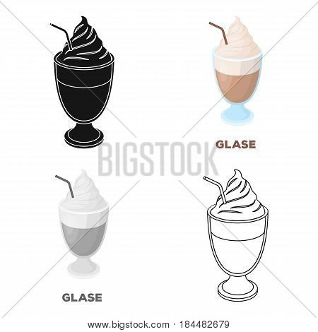 iced coffee.Different types of coffee single icon in cartoon style vector symbol stock illustration .