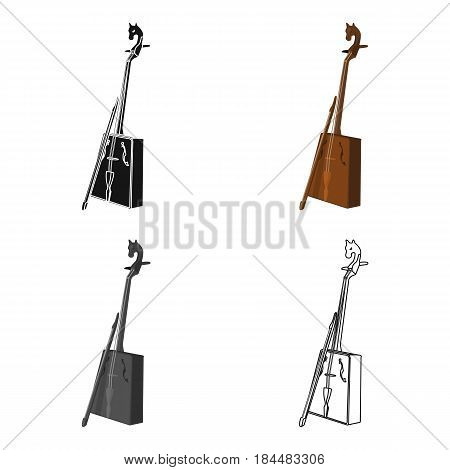 Wooden musical instruments of Mongol .National music of the Mongolian.Mongolia single icon in cartoon style vector symbol stock web illustration.