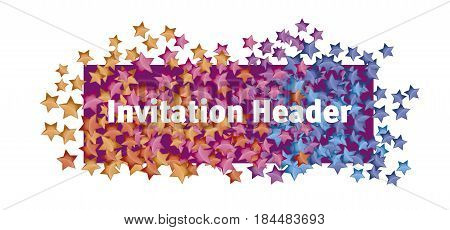 lending page header with abstract stars shape