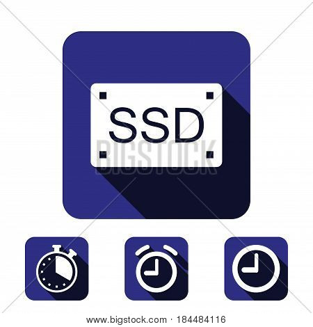 ssd icon stock vector illustration flat design