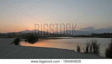 Sunset over San Jose Del Cabo Estuary / Lagoon near Cabo San Lucas Baja Mexico BCS