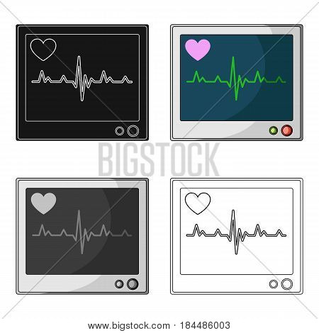 Medical monitor.Medicine single icon in cartoon style vector symbol stock illustration .