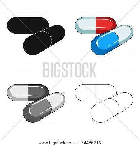 Capsules with medicine.Medicine single icon in cartoon style vector symbol stock illustration .