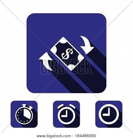 dollar money icon stock vector illustration flat design