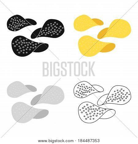 Chips vector illustration icon in cartoon design