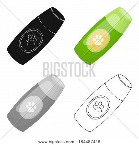 Shampoo for animals.Pet shop single icon in black style vector symbol stock illustration .