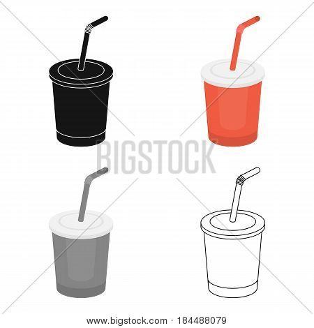 Coca-Cola vector illustration icon in cartoon design