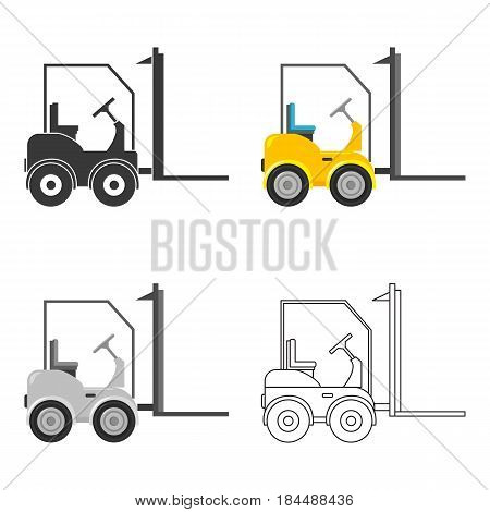 Forklift icon of vector illustration for web and mobile design