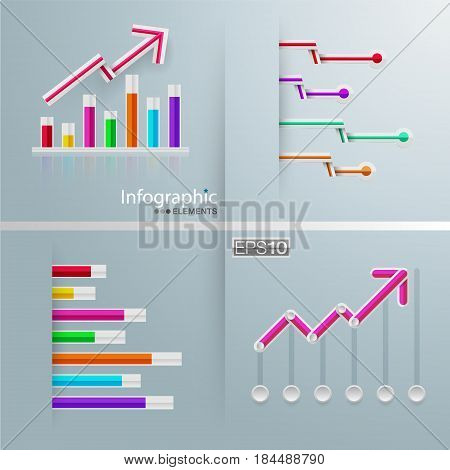 set of info graphics charts. Vector design