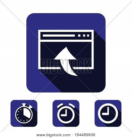 web page icon stock vector illustration flat design