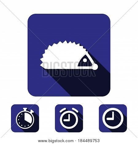 hedgehog icon stock vector illustration flat design