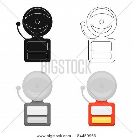 Fire alarm icon cartoon style. Single silhouette fire equipment icon from the big fire Department cartoon.