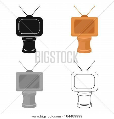 Bronze award in Famer of the TV with aerial.Trophy for best film.Movie awards single icon in cartoon style vector symbol stock web illustration.