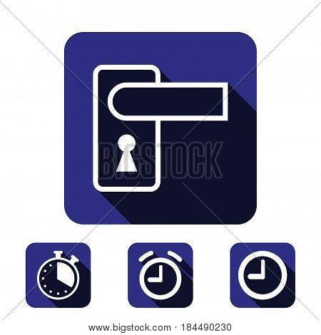 door handle icon stock vector illustration flat design