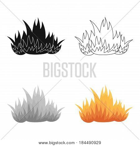 Fire icon cartoon style. Single silhouette fire equipment icon from the big fire Department cartoon - stock vector