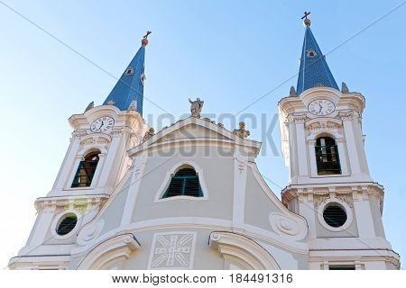 Picture of a catholic church in Esztergom Hungary