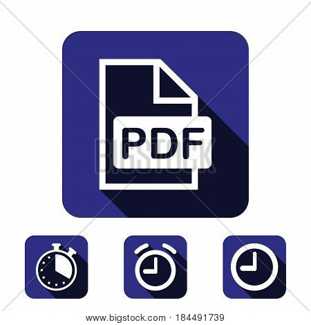 pdf icon stock vector illustration flat design
