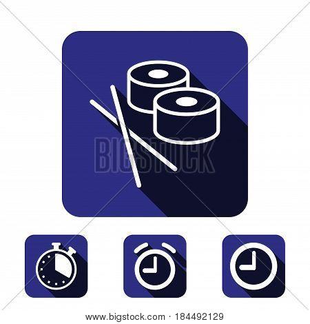 sushi icon stock vector illustration flat design