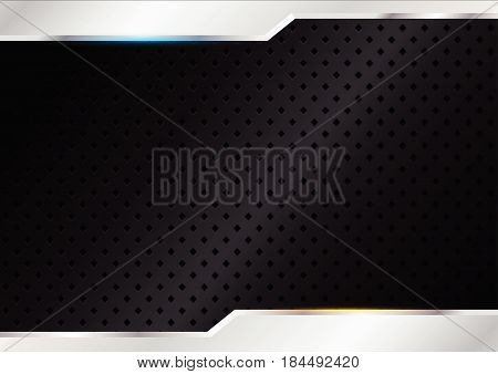 black background with steels, vector illustration, abstract