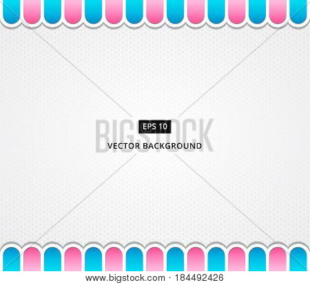 polka dot background dessert with awning vector