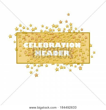 lending page header. gold stars header. frame with stars. luxury fireworks header