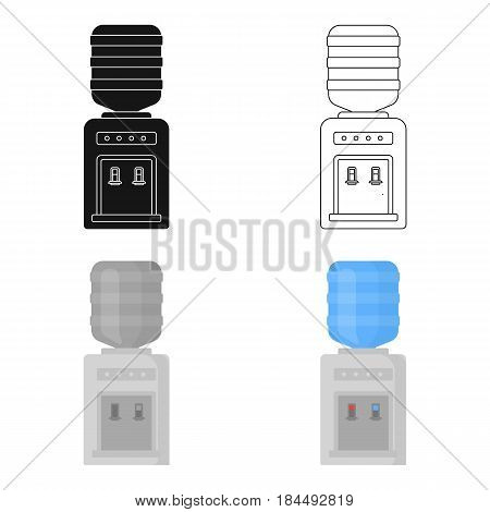Office water cooler icon in cartoon style isolated on white background. Office furniture and interior symbol vector illustration.